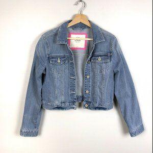 A&F Denim Cropped Jacket